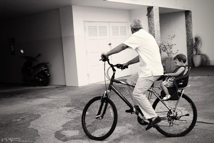 pai e filho bike
